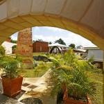 L'entrée de la villa Carambole